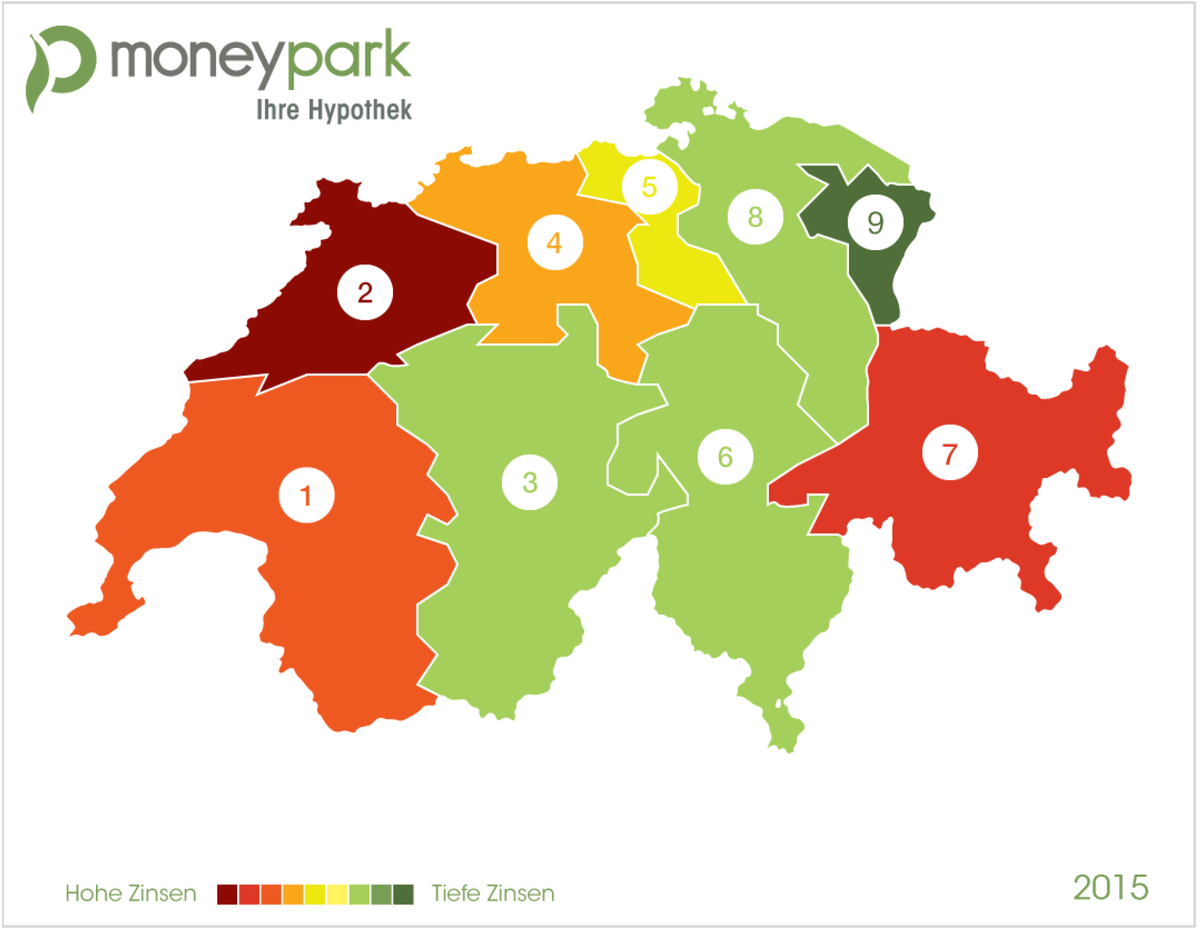 regionale unterschiede bei hypozinsen moneypark ag. Black Bedroom Furniture Sets. Home Design Ideas